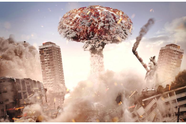 ядерный взрыв в городе фото