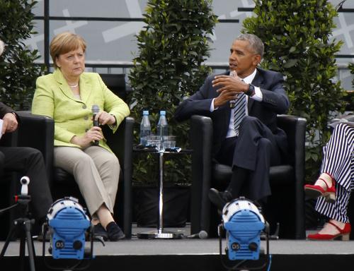 Ангела Меркель и Барак Обама фото