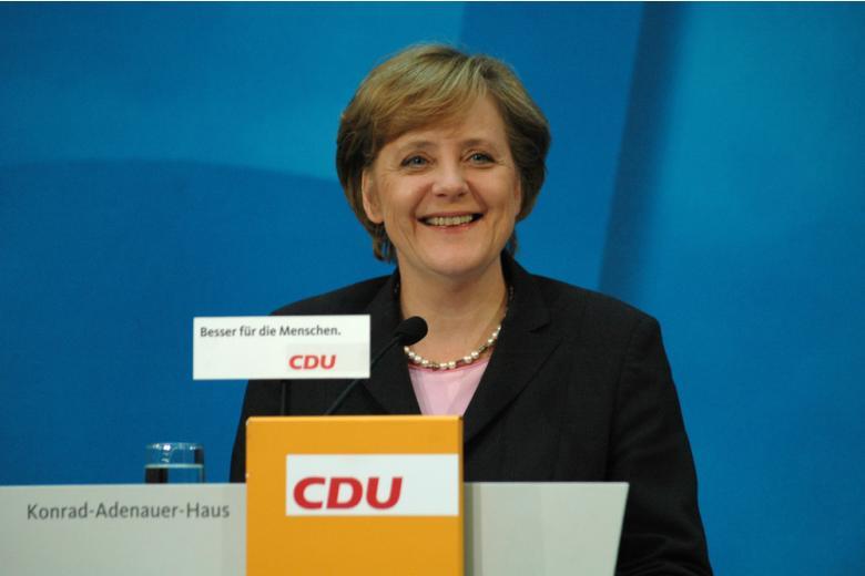 Ангела Меркель на съезде ХДС фото