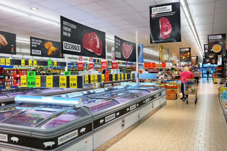 Цены на мясо в немецком супермаркете фото