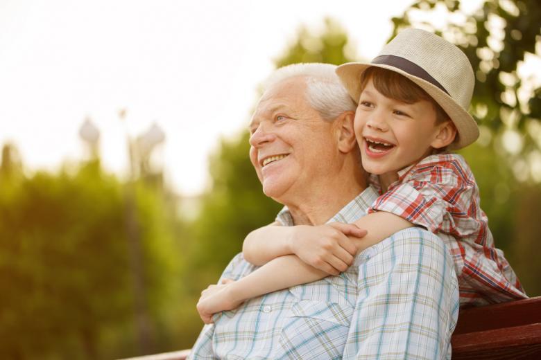 дедушка и внук фото