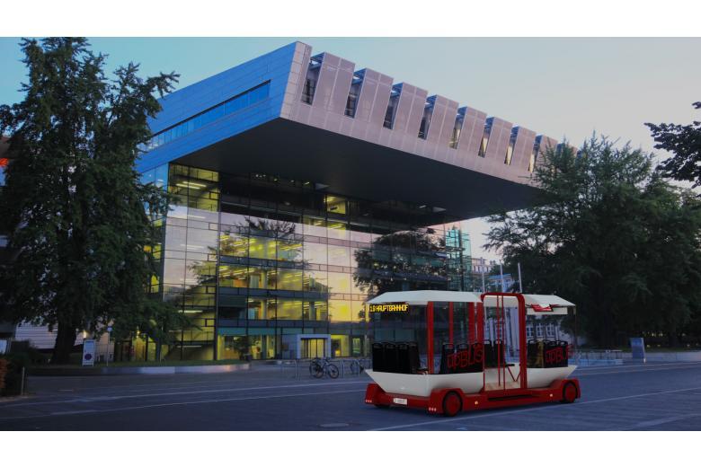 Электробус Upbus в наземном состоянии фото