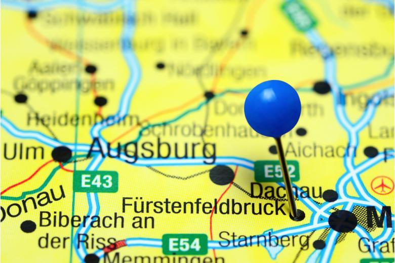 Фурстенфельдбрюк на карте Германии фото