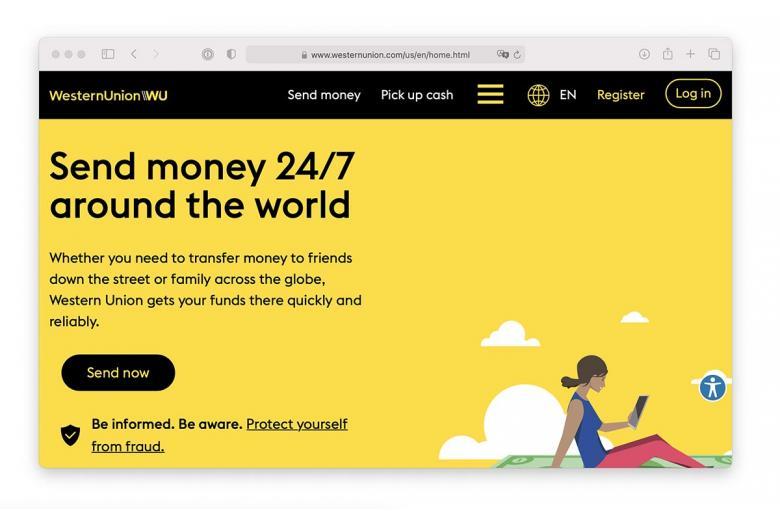 Перевод денег из Германии с помощью Western Union.