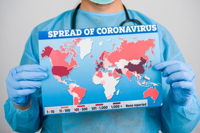 карта распространения коронавируса фото