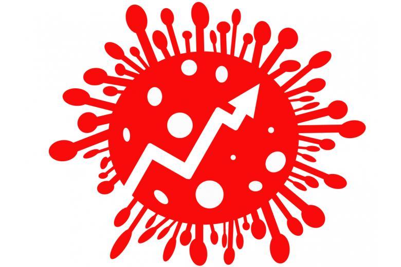 Молекула коронавируса с прогрессией внутри фото