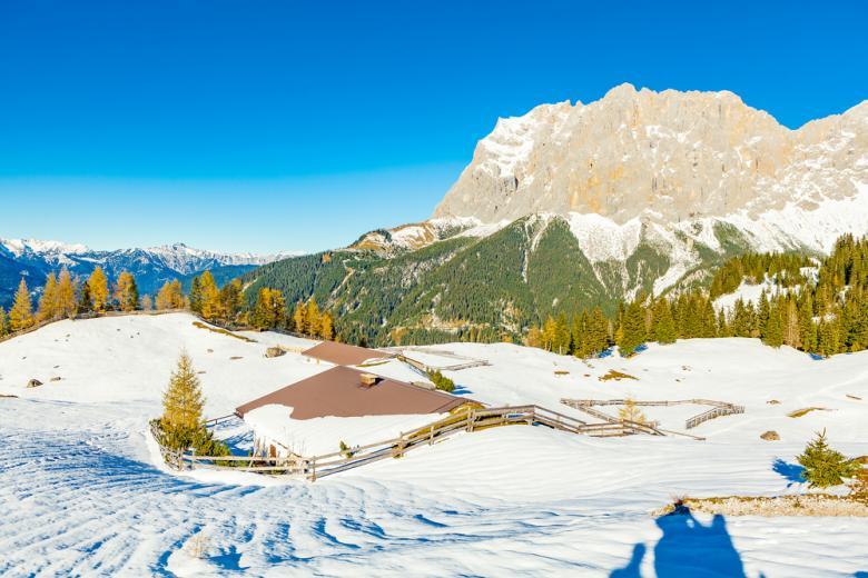 Вид на гору Веттершпитце фото