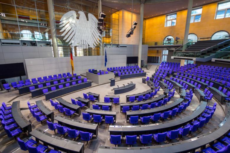 зал для голосований в Бундестаге фото