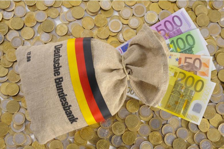 мешок денег с надписью deutsche bundesbank фото
