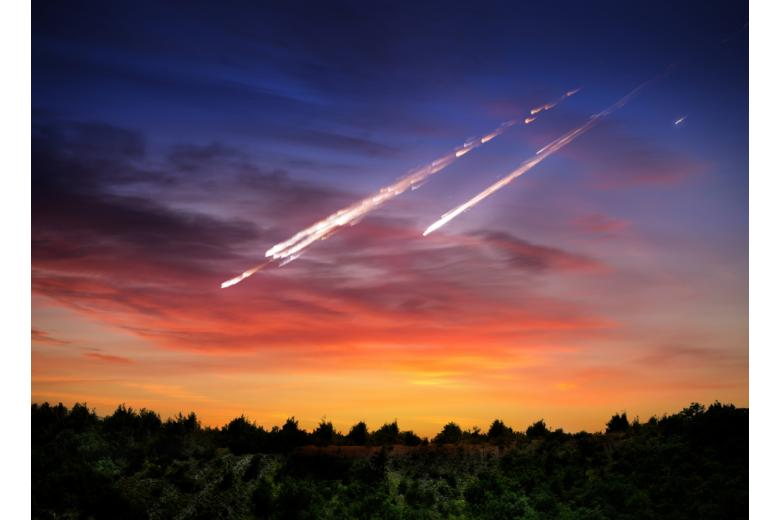 падение астероида фото