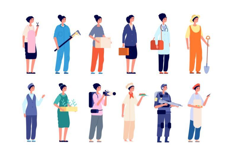 Работники разных профессий фото