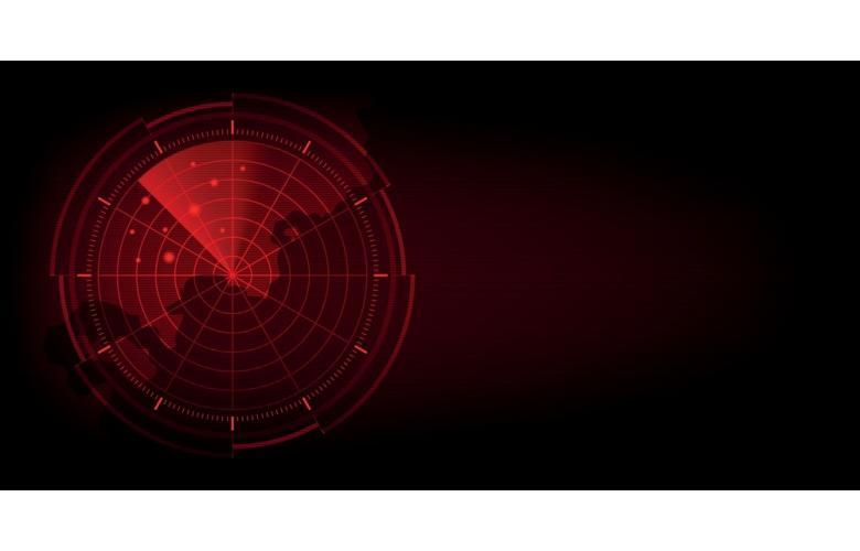 Абстрактный радар с целями фото
