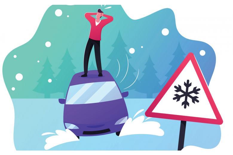 Первый снег создал трудности на дорогах и провоцирует ДТП фото