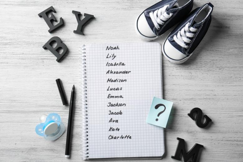 список имен на листе фото