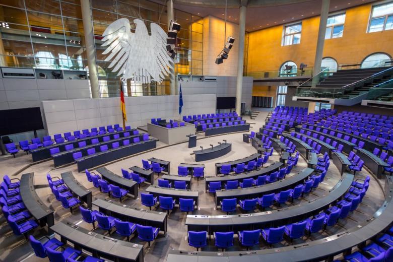 Зал заседаний Бундестага фото