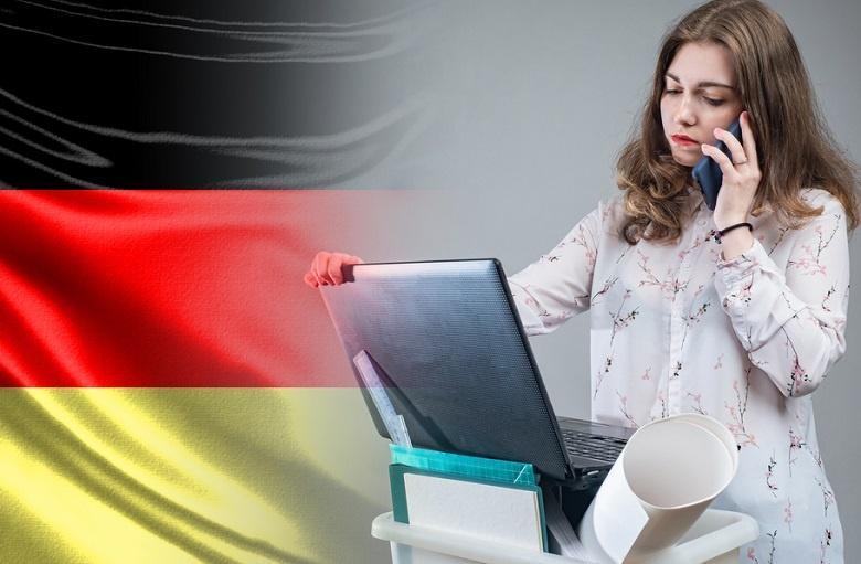 офисный работник в Германии фото
