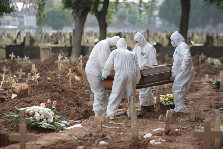 похороны человека с COVID фото