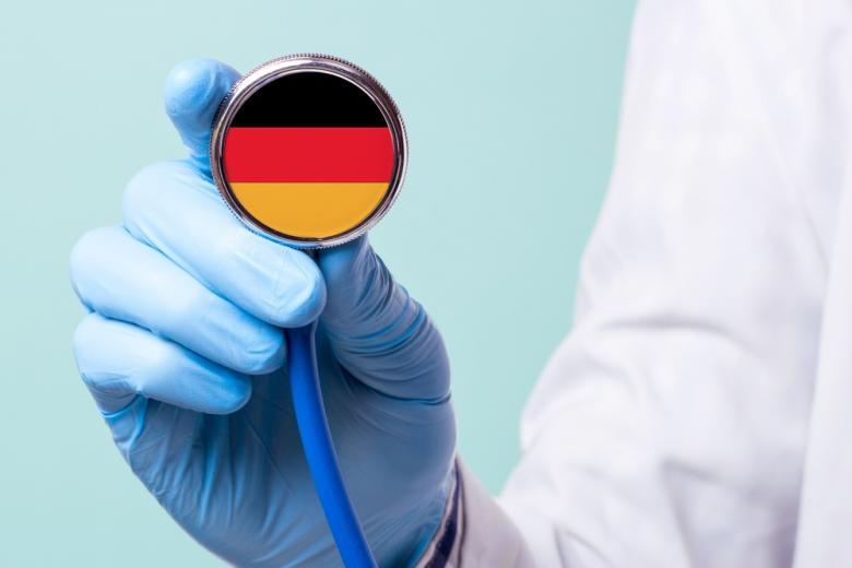 стетоскоп с флагом Германии фото