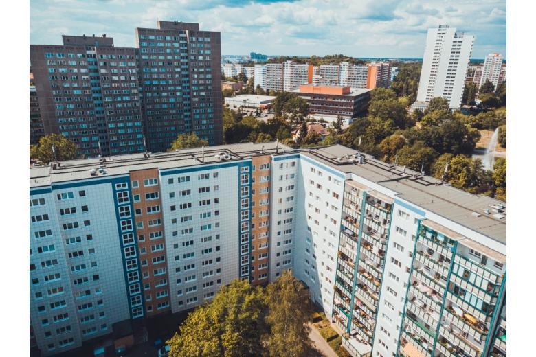 панорама района Лихтенберг в Берлине фото