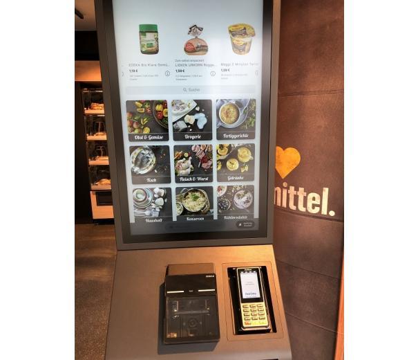 сенсорный экран для покупок в супермаркете Edeka фото