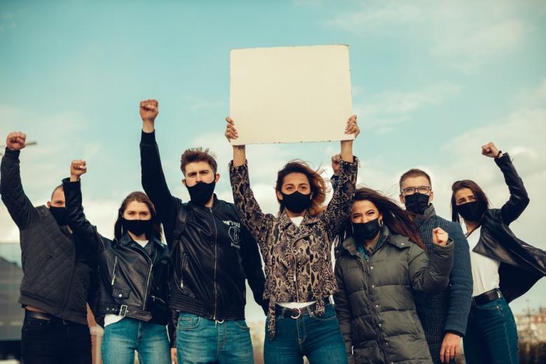 Демонстрации против карантинных мер