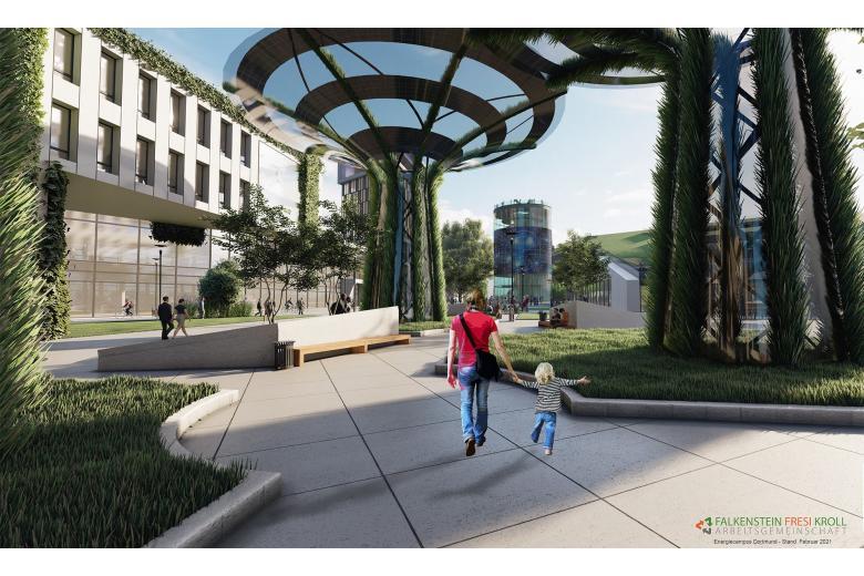 Energie-Campus в Дортмунде. Foto: Falkenstein Fresi Kroll Arbeitsgemeinschaft
