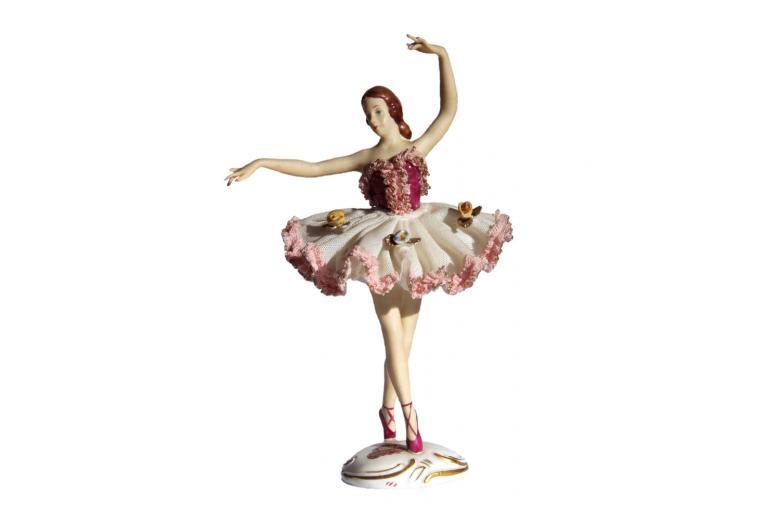 фарфоровая фигурка балерины, Дрезден
