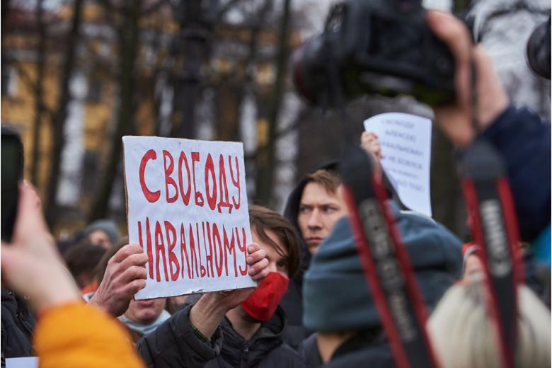 Митинги в поддержку Навального в Санкт-Петербурге