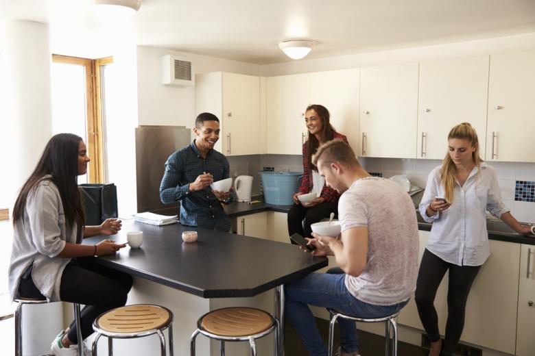 Студенческое общежитие с общей кухней