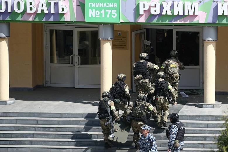 Нападение на школу Фото: телеграмм-канал @tvrain