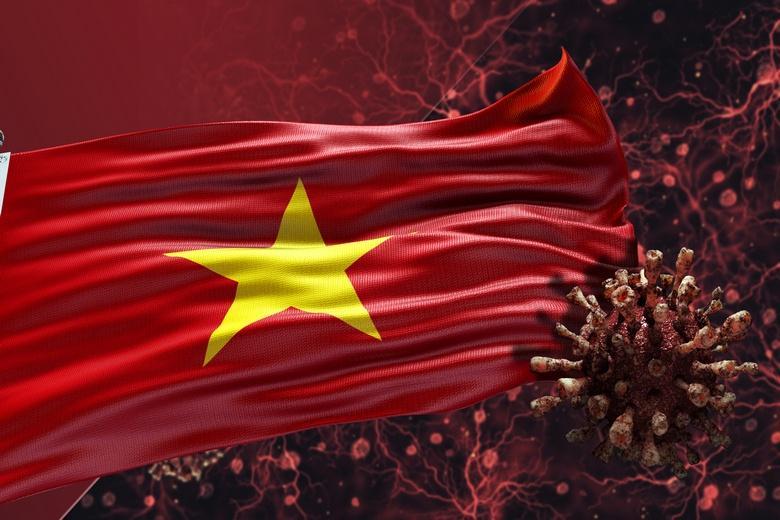 Вьетнамский коронавирус Фото: Автор: Flag World / shutterstock.com