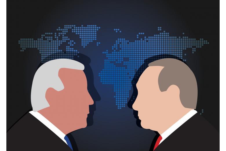 Байден и Путин на переговорах, иллюстрация Фото: charnsitr/shutterstock.com