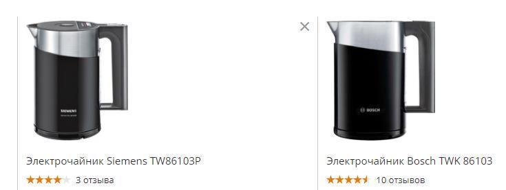 Пример одинаковых чайников, но под разными брендами.