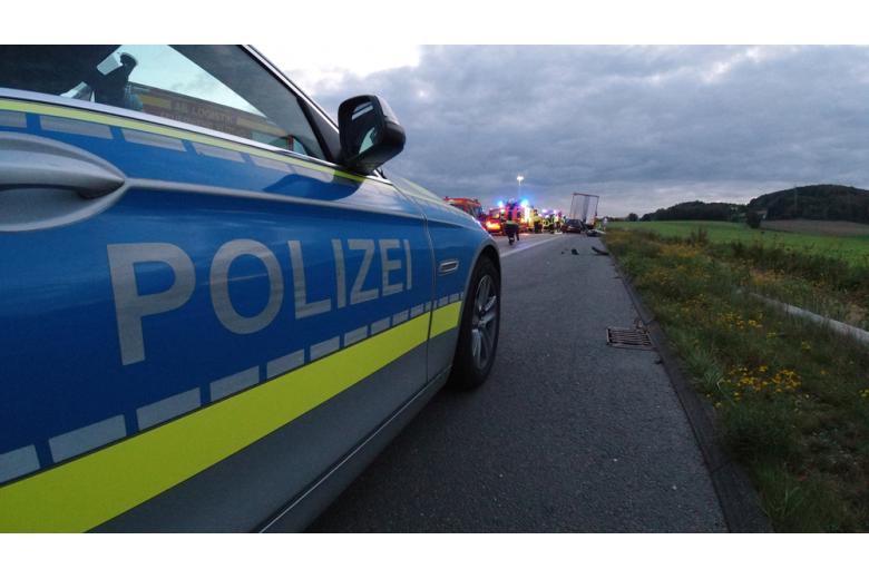 авария на автобане столкнулись четыре автомобиля Фото: Tim Freitag/shutterstock.com