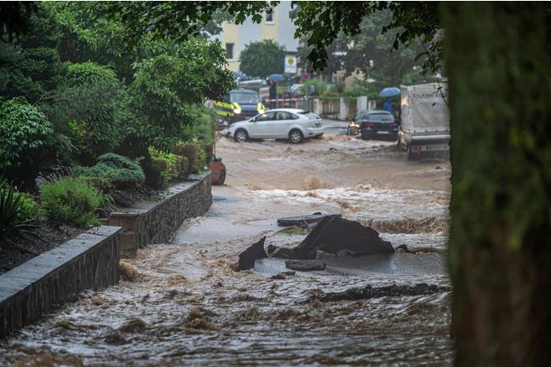 Наводнение в Хагене.  Фото: Dieter Menne / dpa