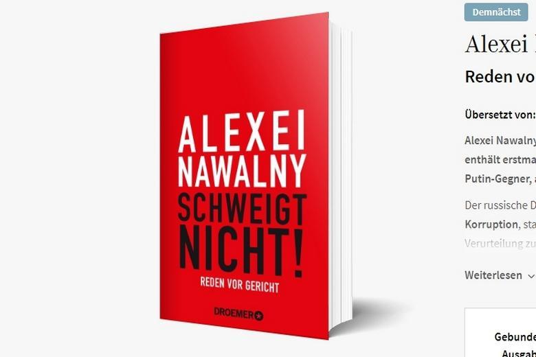 Навальный издал книгу Фото: Автор: скриншот из сайта издателя книги / droemer-knaur.de