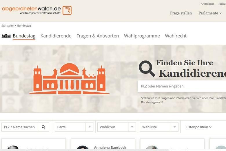 Онлайн-вопрос кандидату Фото: скриншот abgeordnetenwatch.de/bundestag