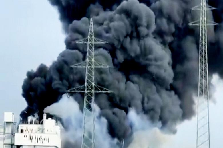Последствия взрыва в Леверкузене Фото: скриншот видео twitter-аккаунт @Mediavenir