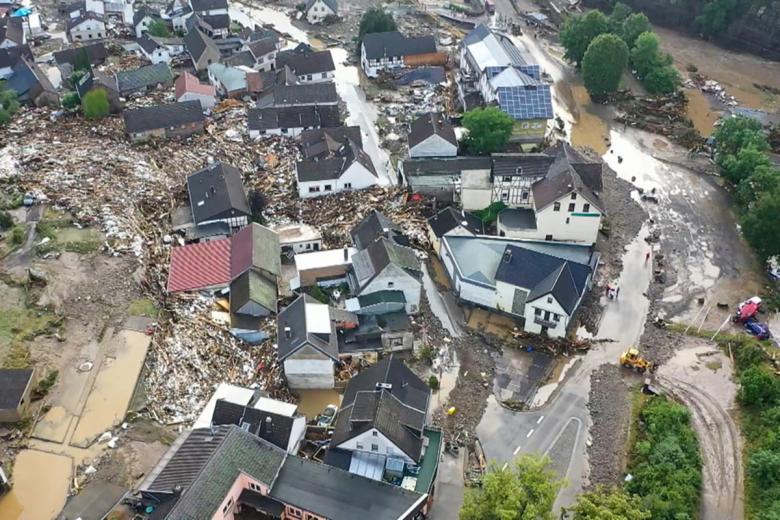 Последствия шторма в Айфеле. Фото: Christoph Reichwein/dpa