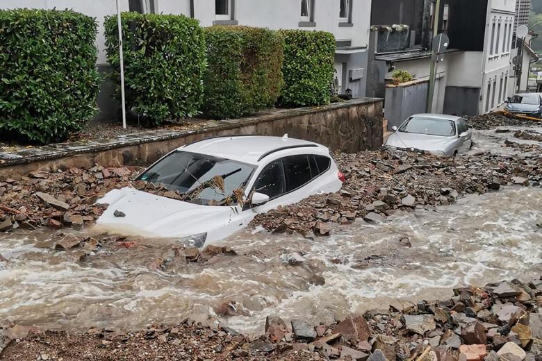 Последствия шторма в Хагене