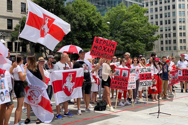 Участники встречи со Светланой Тихановской в Вашингтоне. Фото: Aussiedlerbote.de