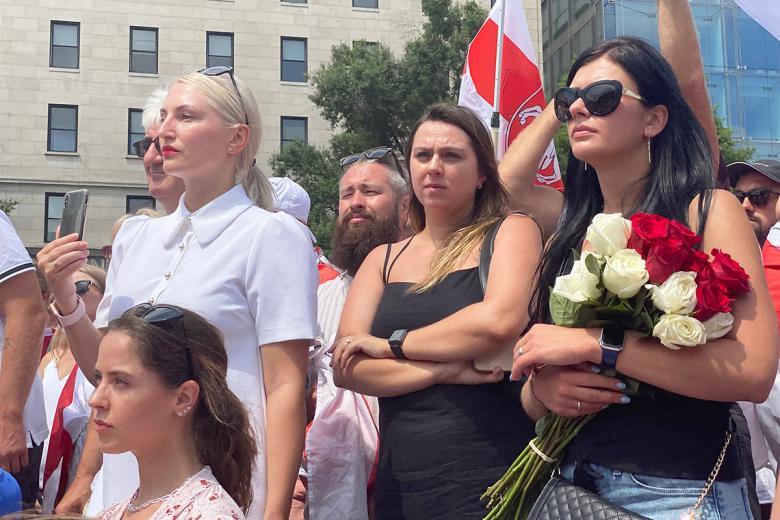 Представители белорусской диаспоры на встрече со Светланой Тихановской в Вашингтоне. Фото: Aussiedlerbote.de