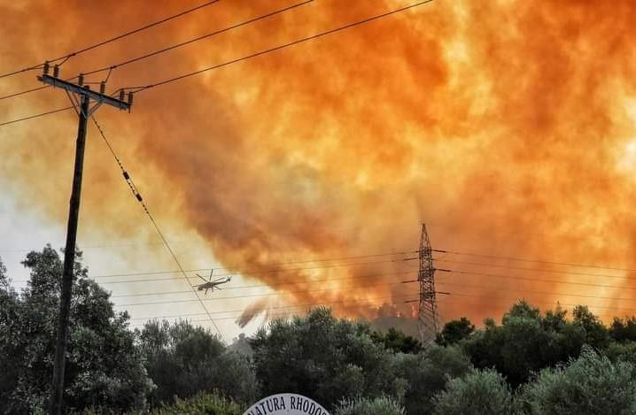 Пожар на острове Родос / Фото: KRKI-993 / twitter.com