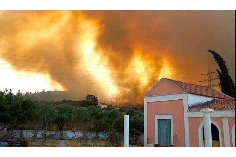 Родос пожар / Фото: michael / twitter.com