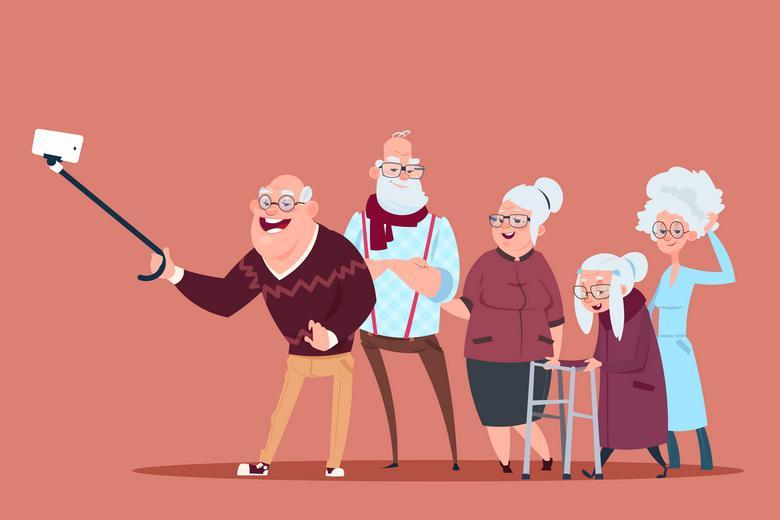 Пожилой человек и смартфон Фото: Автор: ProStockStudio / shutterstock.com