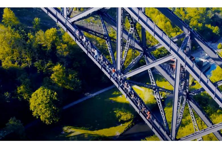Самый высокий мост Германии Фото: Автор: Скриншот из ютюб-ролика Brückensteig