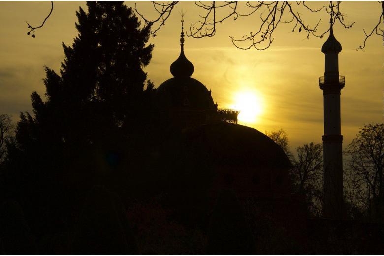мечеть на закате фото