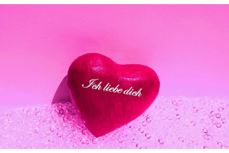 сердечко с надписью на немецком ich liebe dich фото