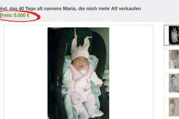«Продаётся девочка»: немец пытался продать младенца на интернет-аукционе фото 1